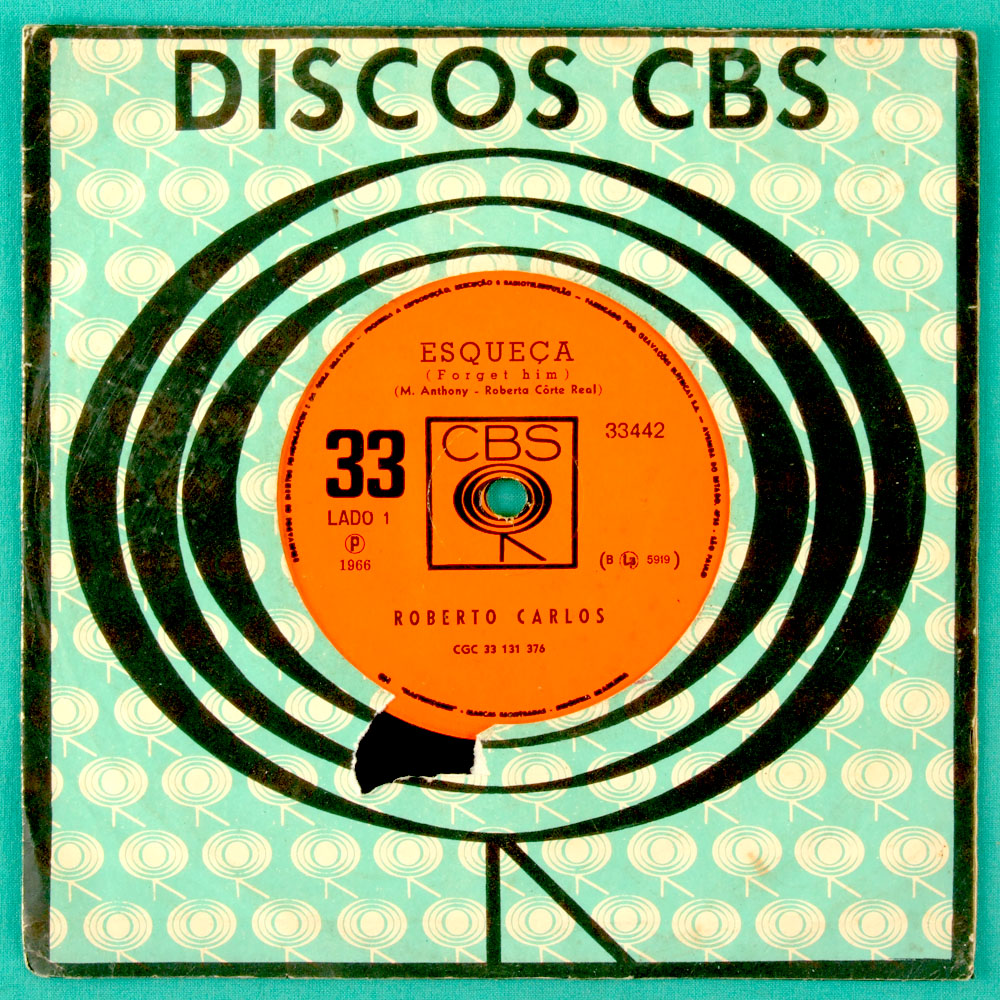 "7"" ROBERTO CARLOS ESQUECA 1966 FOLK MELLOW BEAT BRAZIL"