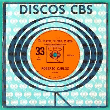 "7"" ROBERTO CARLOS EU TE AMO 1968 GARAGE FOLK BEAT BRAZIL"