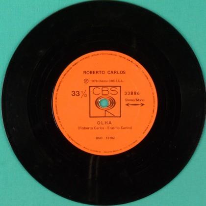 """7"""" ROBERTO CARLOS OLHA 1976 MELLOW FOLK BEAT POP BRAZIL"""