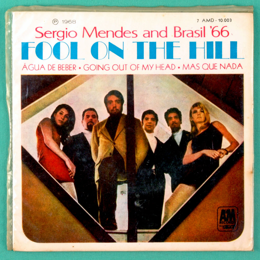 "7"" SERGIO MENDES BRASIL 1966 FOOL ON THE HILL EP BRAZIL"