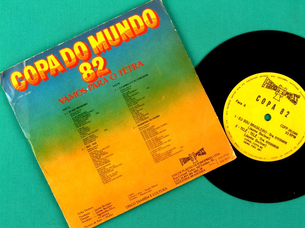 """7"""" SOCCER WORLD CUP COPA DO MUNDO 1982 EU SOU BRASILEIRO EP BRAZIL"""