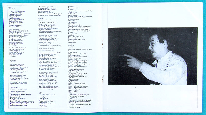 PROGRAM OF SHOW ANTONIO CARLOS JOBIM TOM 1987/1988 BOSSA SAMBA FOLK JAZZ BRAZIL