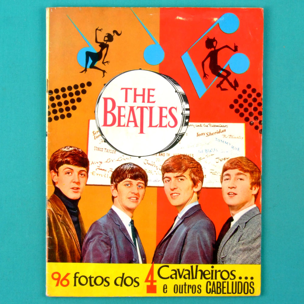 STICKER ALBUM THE BEATLES 1965 COMPLETE 96 PICS *EX GOING TO NEAR MINT* BRAZIL