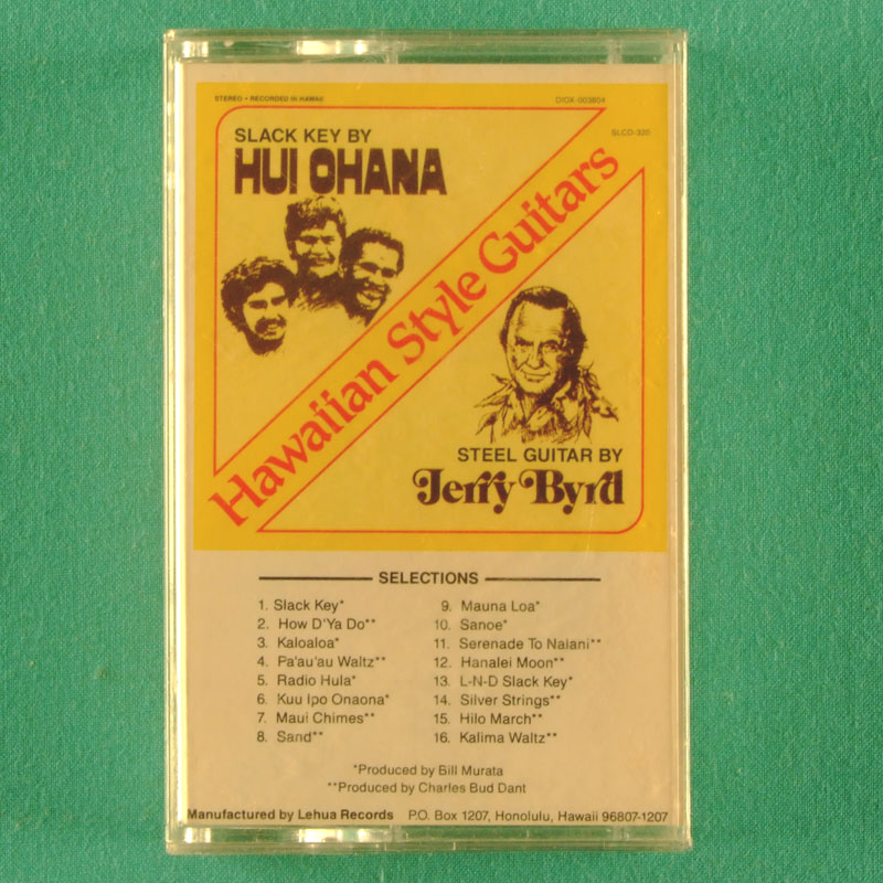 CASSETTE HUY OHANA JERRY BYRD HAWAIIAN STYLE GUITAR 1989 USA
