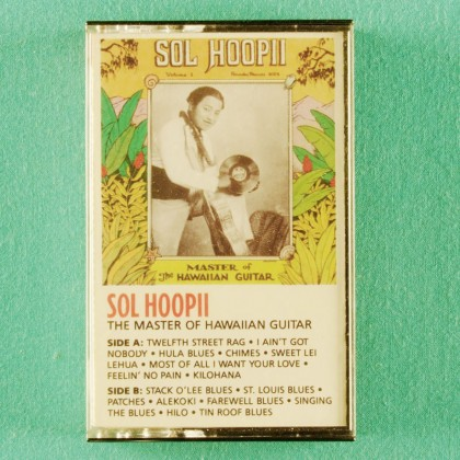 CASSETTE SOL HOOPII THE MASTER OF HAWAIIAN GUITAR 1988 BLUES USA