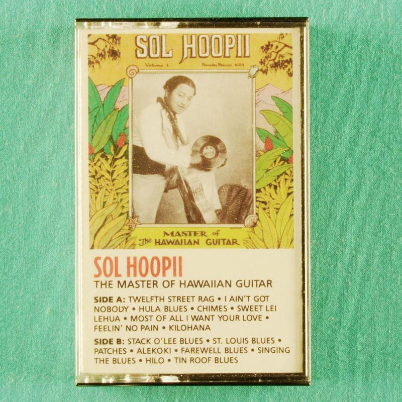 CASSETTE SOL HOOPII THE MASTER OF HAWAIIAN GUITAR 1988 BLUES USA