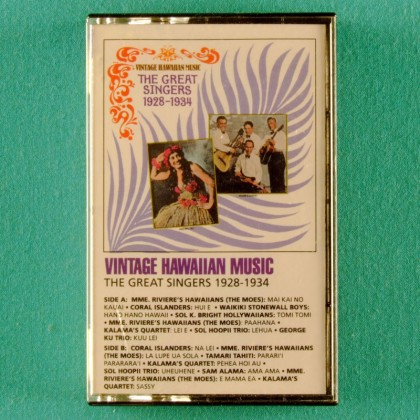 CASSETTE TAPE VINTAGE HAWAIIAN MUSIC STEEL GUITAR SLIDE USA