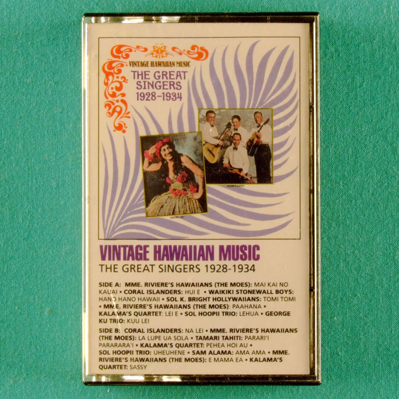 CASSETTE VINTAGE HAWAIIAN MUSIC STEEL GUITAR MASTERS 1989 USA