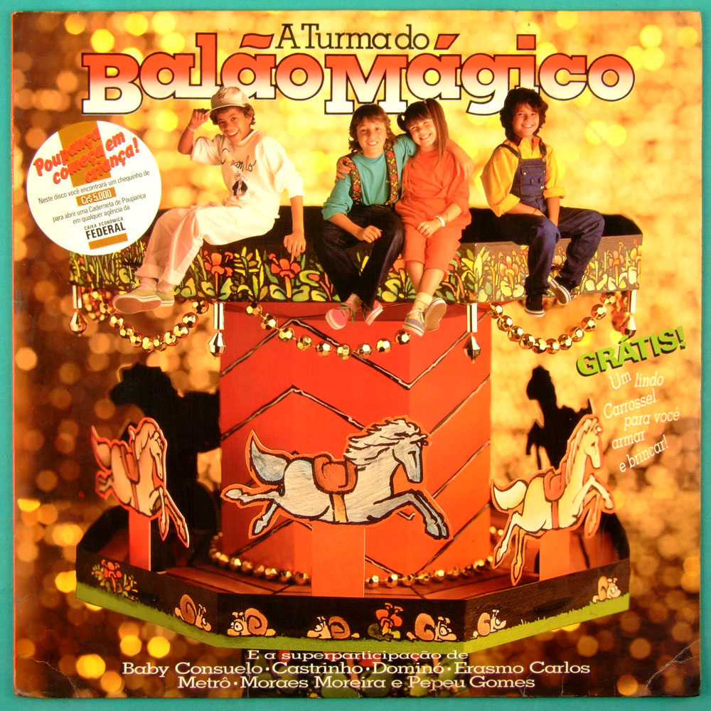 LP A TURMA DO BALAO MAGICO 1985 DJAVAN CHILDREN POP FOLK ROCK GROOVE BRAZIL