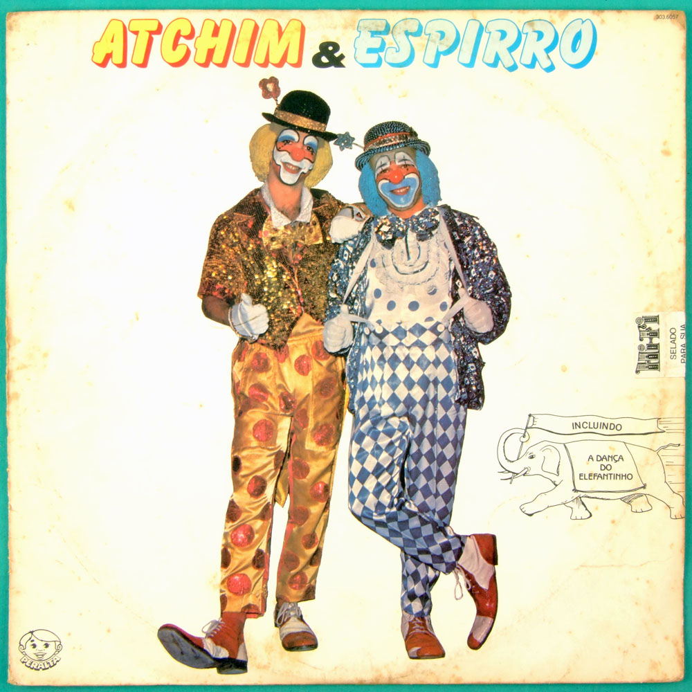 LP ATCHIN & ESPIRRO PERALTA CLOWN HUMOR CHILDREN 1986 TV SHOW CIRCUS FOLK BRAZIL
