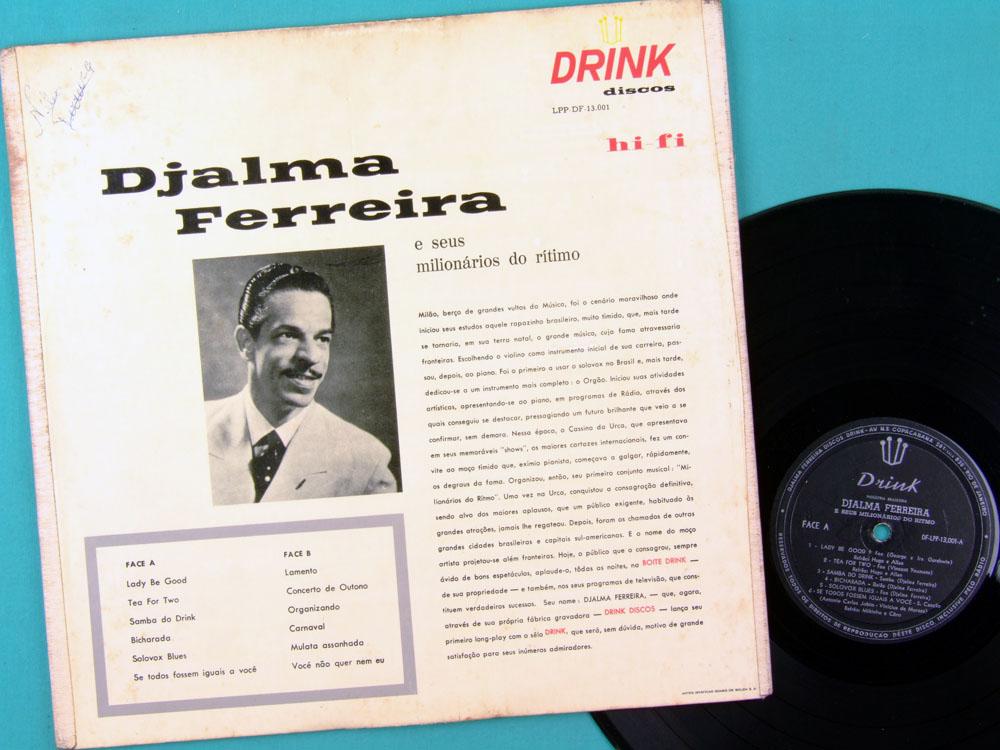 LP DJALMA FERREIRA E SEUS MILIONARIOS DO RITIMO MILTINHO FOLK SAMBA BOSSA BRAZIL