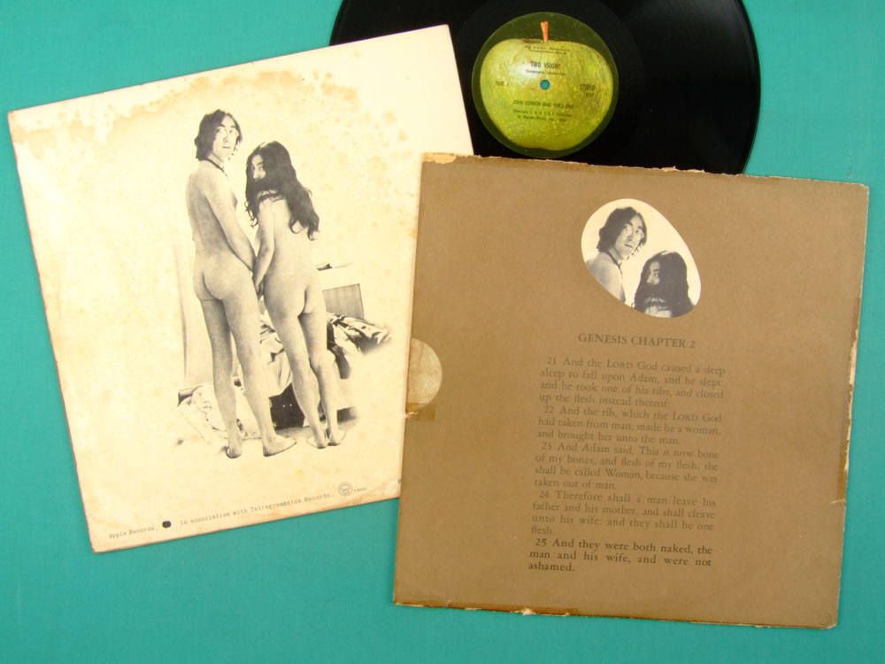 LP JOHN LENNON & YOKO ONO TWO VIRGINS  BEATLES ROCK EXPERIMENTAL USA