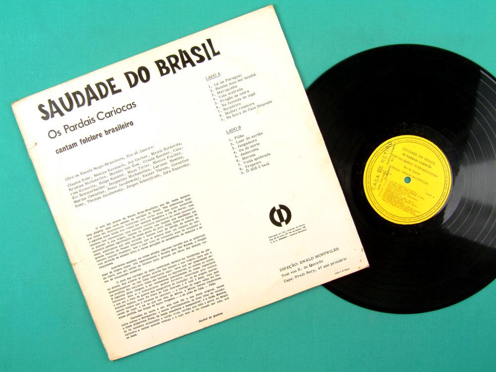 LP OS PARDAIS CARIOCAS SAUDADE DO BRASIL FOLCLORE FOLK REGIONAL SAMBA BRAZIL