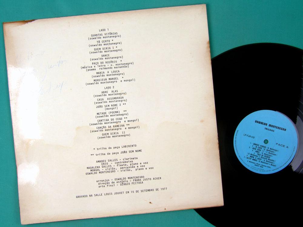 LP OSWALDO MONTENEGRO TRILHAS 1977 FOLK PSYCH OST ROCK INDIE SIGNED BRAZIL