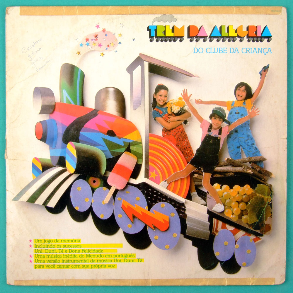 LP TREM DA ALEGRIA CLUBE DA CRIANCA BEAT CHILDREN FOLK POP ROCK MELLOW BRAZIL
