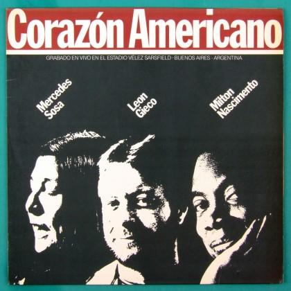 LP MERCEDES SOSA MILTON NASCIMENTO LEON GIECO CORAZON AMERICANO 1986 LATIN BRAZIL
