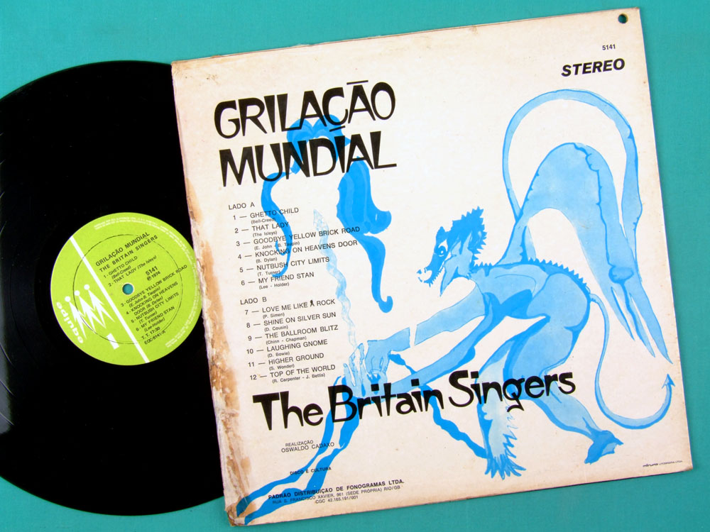 LP THE BRITAIN SINGERS GRILACAO MUNDIAL 1974 FOLK POP BRAZIL