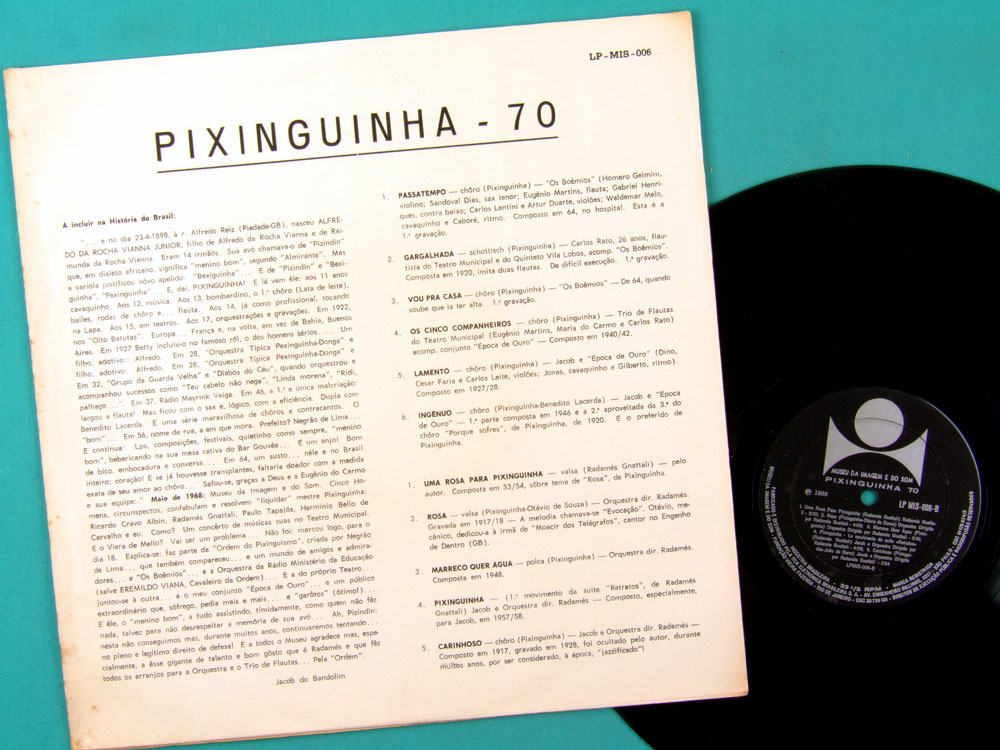 LP PIXINGUINHA 70 MIS SAMBA CHORO JACOB DO BANDOLIM RADAMES GNATALLI BRAZIL