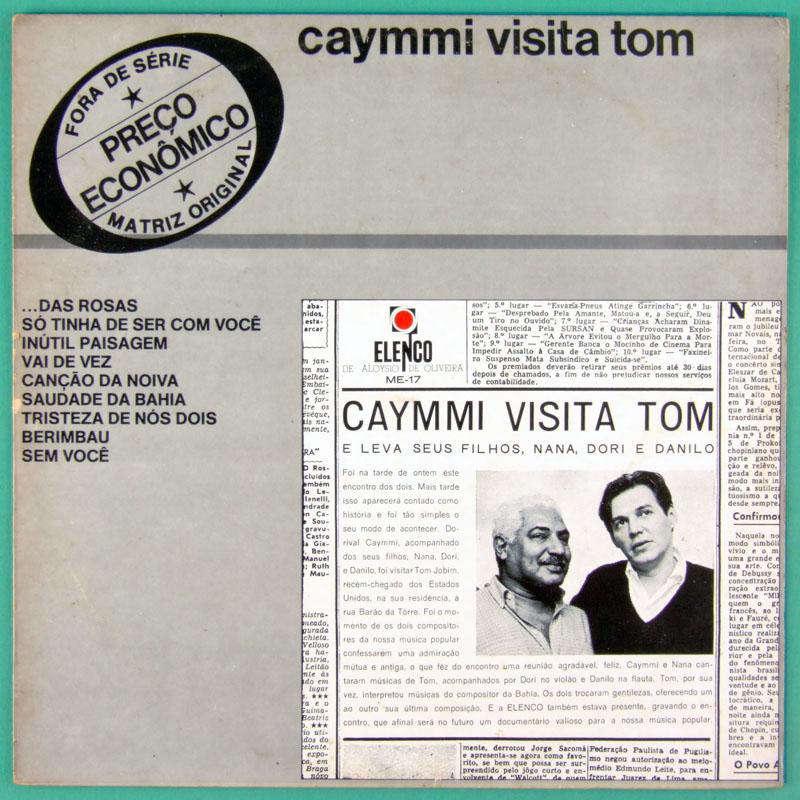 LP CAYMMI VISITA TOM ANTONIO CARLOS JOBIM 1983 BOSSA BRASIL