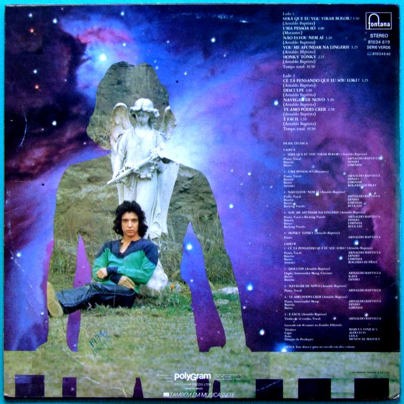 LP ARNALDO BAPTISTA LOKI 1974 RITA LEE MUTANTES DUPRAT PSYCH ROCK FOLK TROPICALIA BRASIL