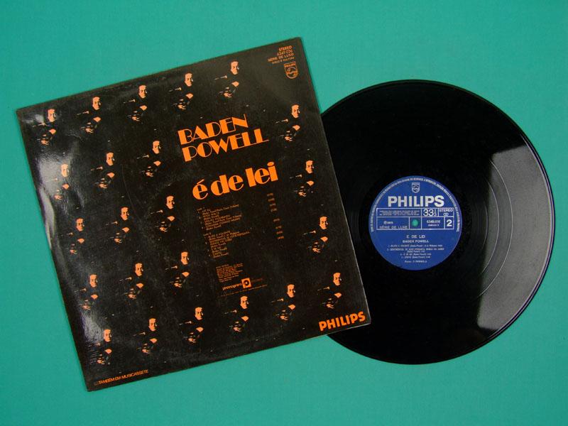 LP BADEN POWELL E DE LEI 1972 JAZZ BOSSA GUITAR SAMBA BRAZIL