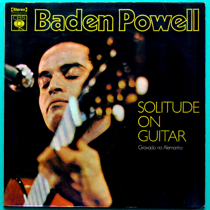 LP BADEN POWELL SOLITUDE ON GUITAR 73 BOSSA NOVA BRAZIL