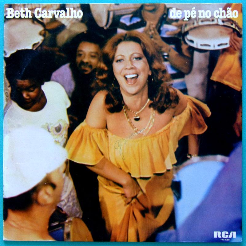 LP BETH CARVALHO DE PÉ NO CHAO SAMBA FOLK GROOVE BRAZIL