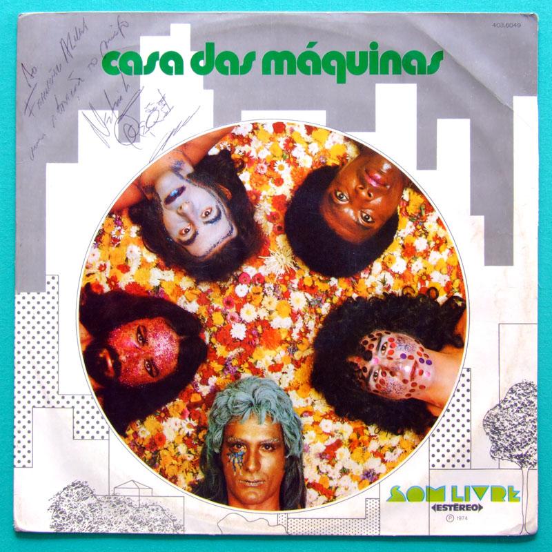 LP CASA DAS MAQUINAS 1ST SIGNED ROCK FOLK PSYCH BRAZIL