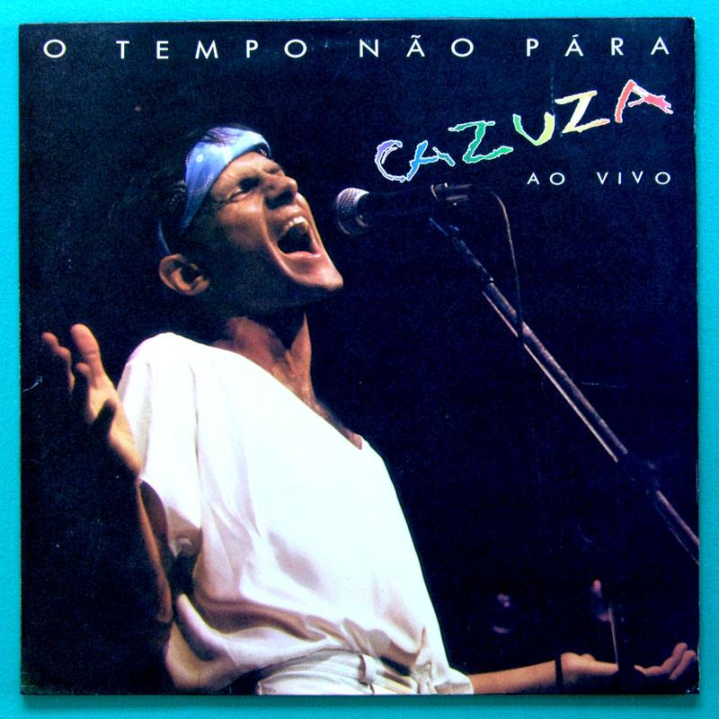 LP CAZUZA O TEMPO NAO PARA LIVE FOLK ROCK GROOVE BRAZIL