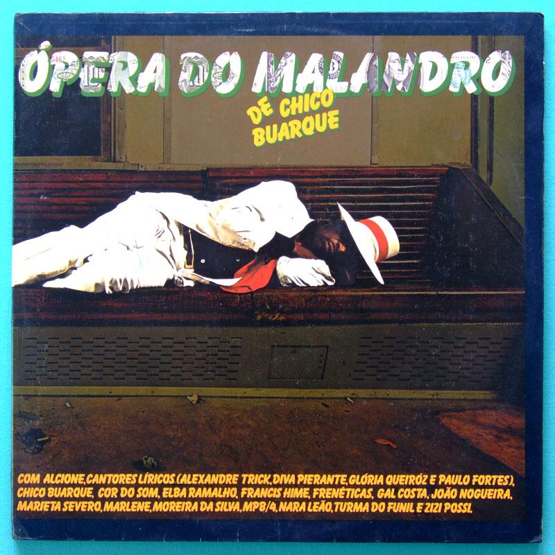 LP CHICO BUARQUE OPERA DO MALANDRO SAMBA BOSSA BRAZIL