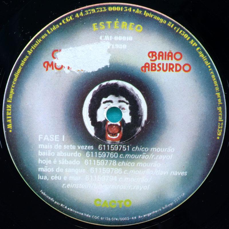LP CHICO MOURAO BAIAO ABSURDO REGIONAL FOLK 1980 INDIE EXP BRAZIL