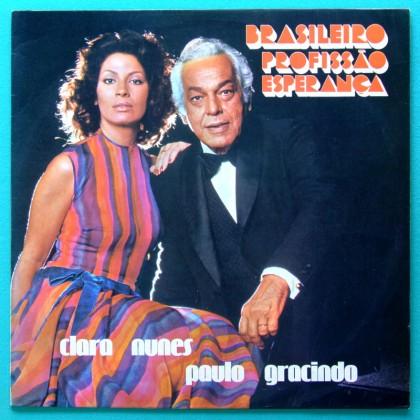 LP CLARA NUNES PAULO GRACINDO BRASILEIRO PROFISSAO ESPERANCA PLAY SAMBA BOSSA FOLK BRAZIL