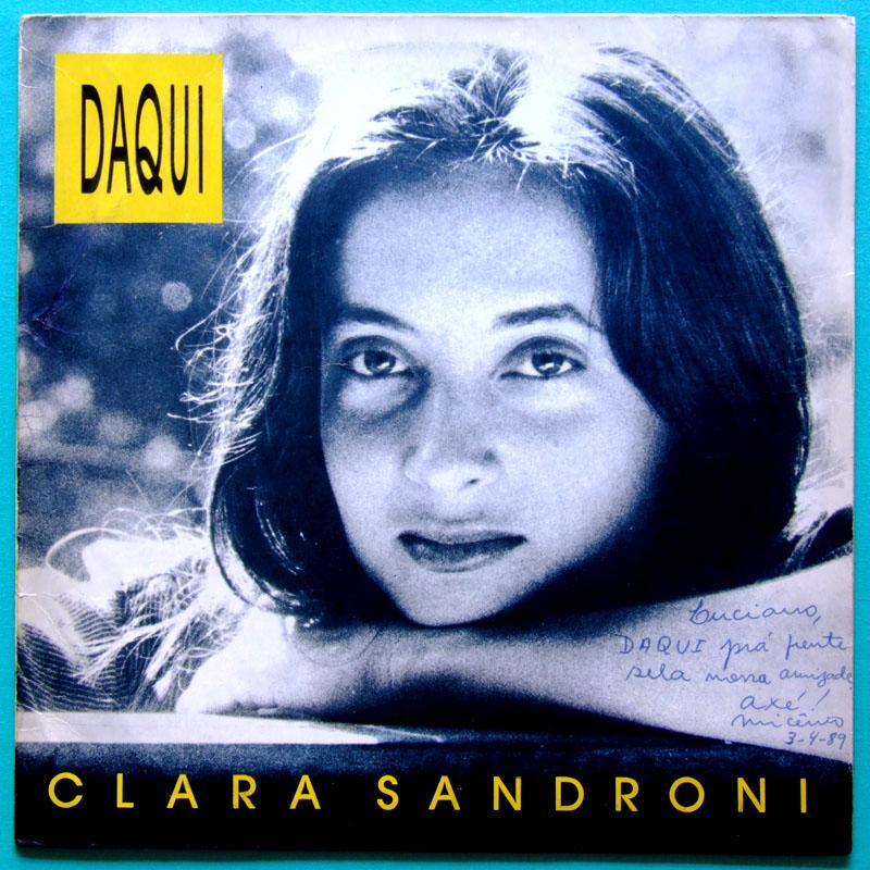 LP CLARA SANDRONI DAQUI FOLK BOSSA ROCK INDIE 87 BRAZIL