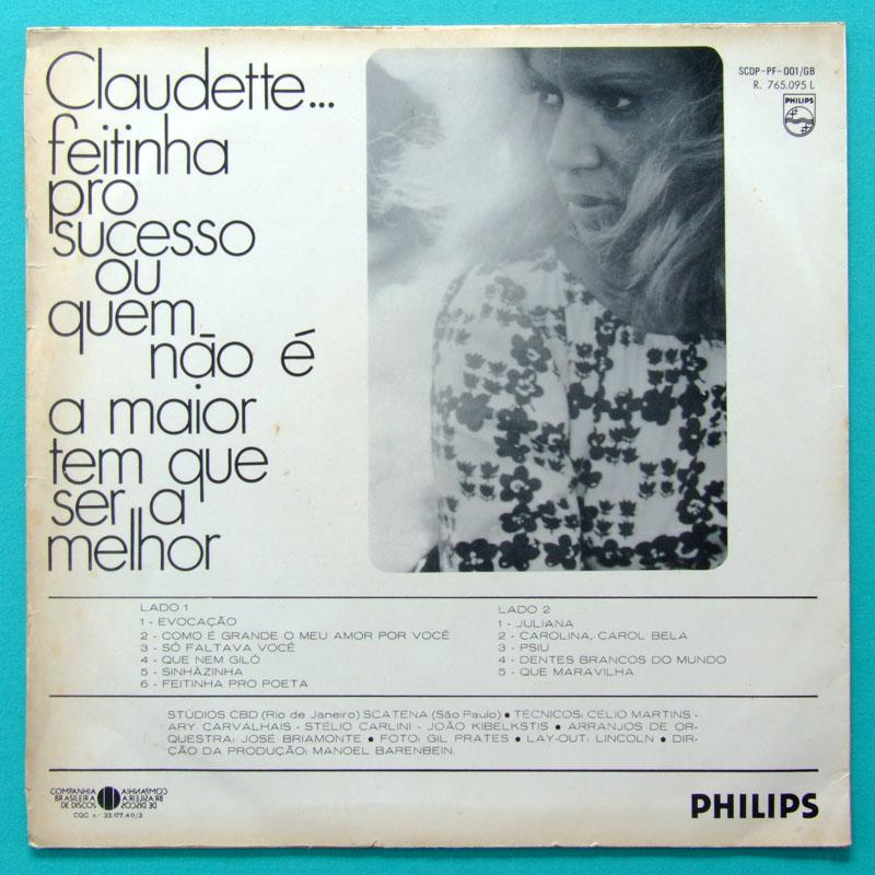 LP CLAUDETTE SOARES FEITINHA PRO SUCESSO BOSSA BRAZIL