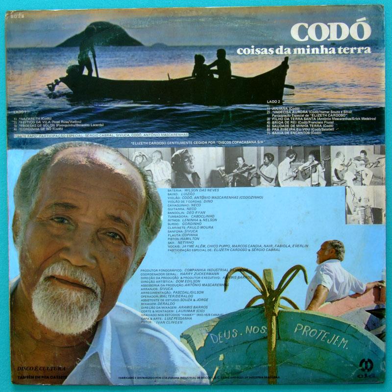 LP CODO GUITAR COISAS DA MINHA TERRA ELIZETH CARDOSO SAMBA BOSSA BRAZIL