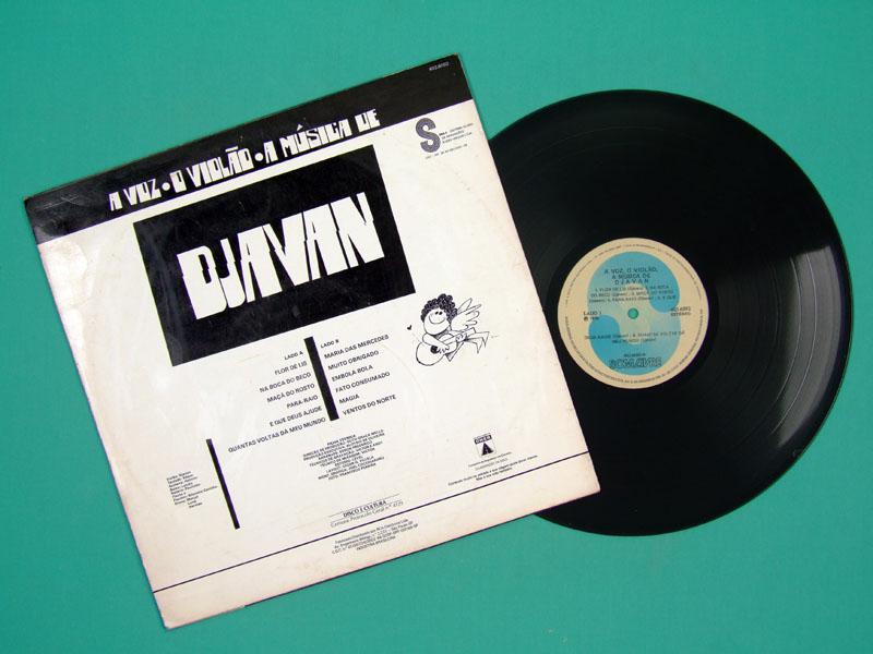 LP DJAVAN A VOZ, O VIOLAO, A MUSICA DE DJAVAN 1976 DEBUT 2ND WHITE & BLUE LABEL GROOVE FUNK JAZZ SAMBA SOUL BRAZIL