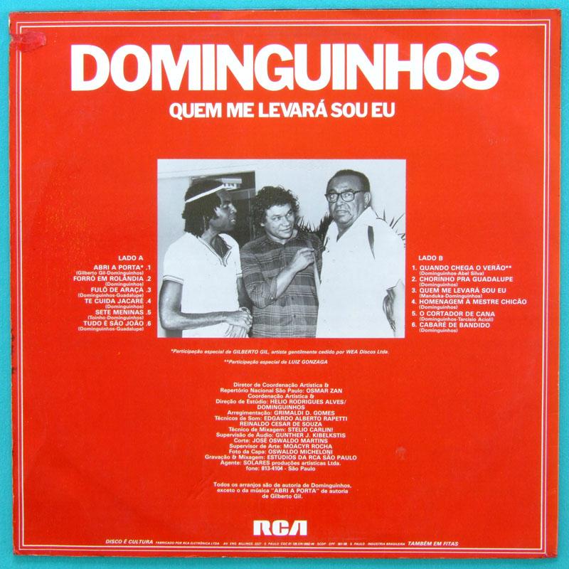 LP DOMINGUINHOS QUEM ME LEVARA SOU EU FOLK GILBERTO GIL BRAZIL