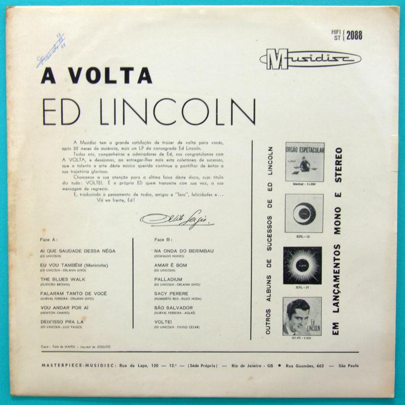 LP ED LINCOLN A VOLTA BOSSA MELLOW GROOVE FUNK BRAZIL