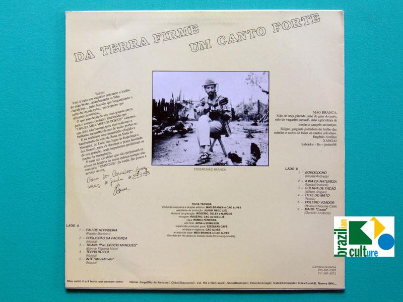 LP EDIGAR MAO BRANCA ELOMAR REGIONAL OBSCURE CULT FOLK INDIE  BRAZIL