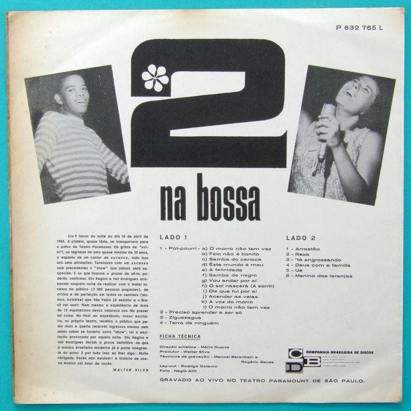 LP ELIS REGINA JAIR RODRIGUES 2 NA BOSSA JAZZ 65 BRAZIL