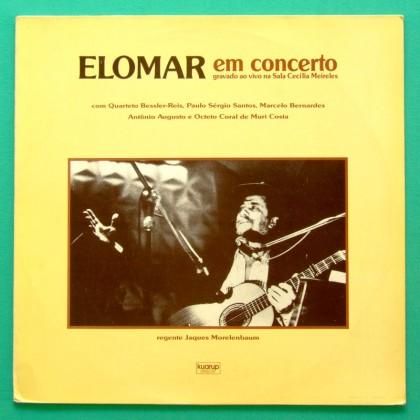 LP ELOMAR EM CONCERTO 1989 REGIONAL LIVE FOLK BRAZIL