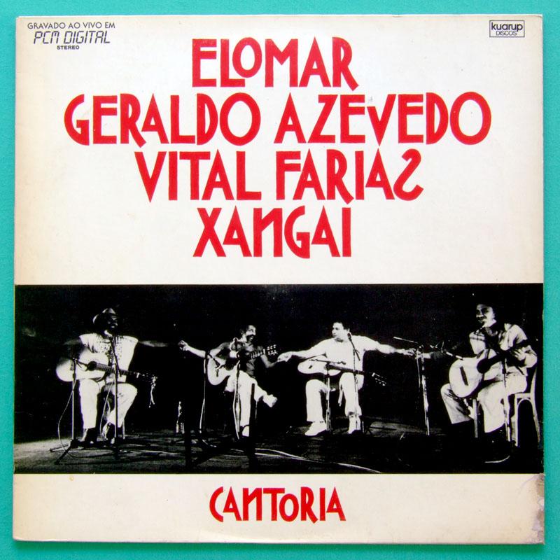 LP ELOMAR CANTORIA GERALDO AZEVEDO XANGAY VITAL BRAZIL