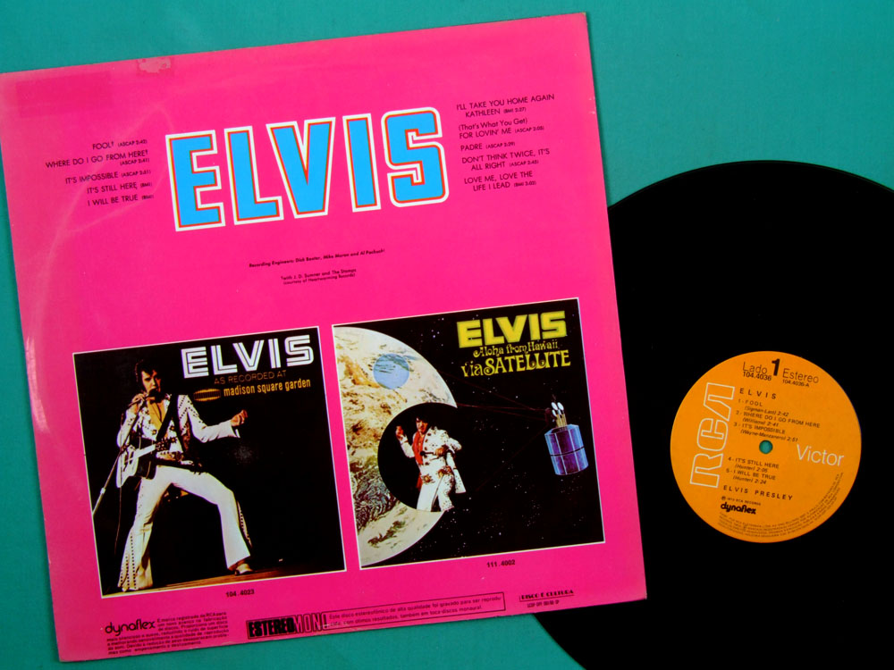 LP ELVIS PRESLEY ROCK BEAT FOLK COUNTRY POP 1973 BRAZIL