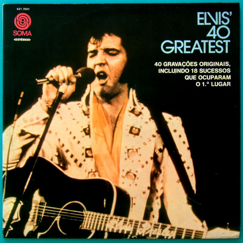 LP ELVIS PRESLEY ELVIS' 40 GREATEST 1975 COUNTRY ROCK BEAT FOLK POP BRAZIL