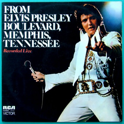 LP ELVIS PRESLEY FROM ELVIS PRESLEY - BOULEVARD, MEMPHIS, TENNESSEE 1974 COUNTRY ROCK BRAZIL