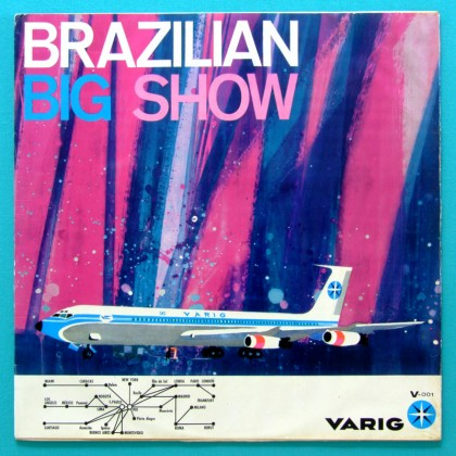 LP ERLON CHAVES BIG SHOW VARIG AIRLINES PROMO RAARE ZIMBO TRIO BOSSA JAZZ BRAZIL