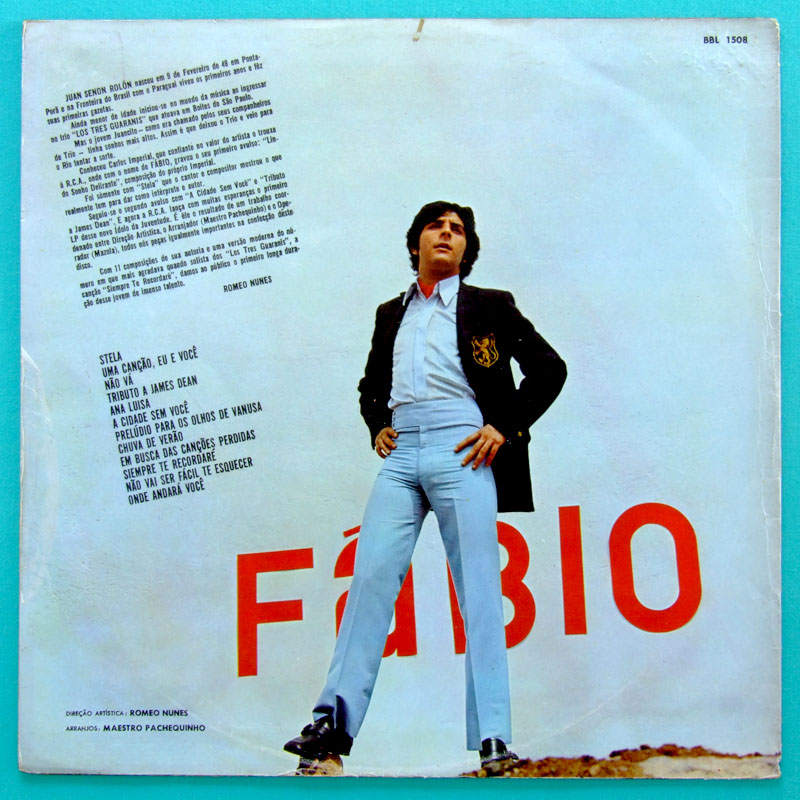LP FABIO DEBUT BEAT GARAGE PSYCH SOUL FOLK 1969 BRAZIL