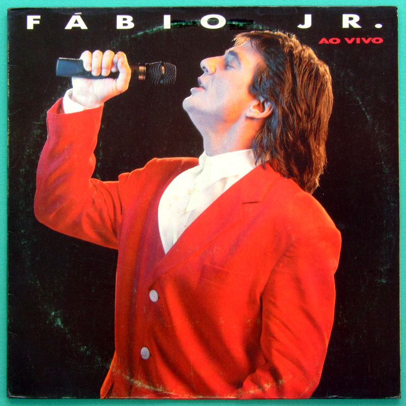 LP FABIO JUNIOR 1989 AO VIVO BEAT POP SOFT ROCK  BRAZIL