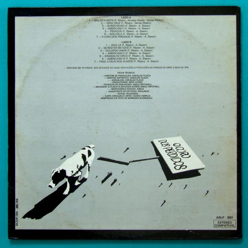 LP FERNANDO RIBEIRO CORO DOS PERDIDOS 1978 PSYCH FOLK BRAZIL