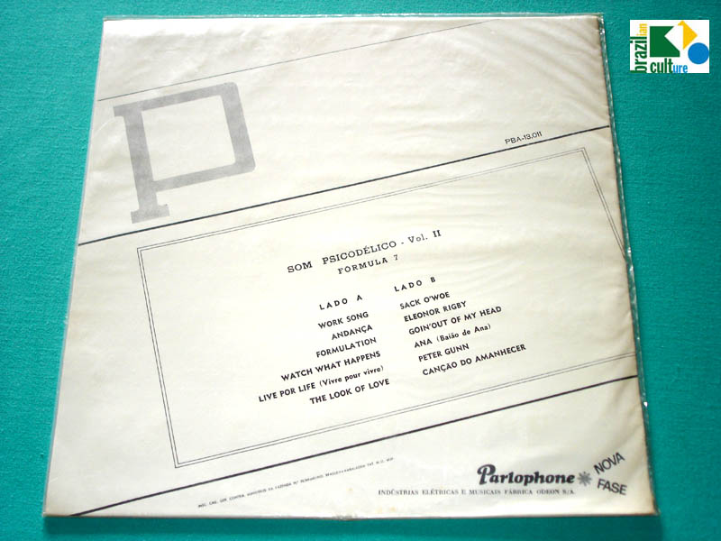 LP FORMULA 7 VOL 2 1968 SOM PSICODELICO BEAT GROOVE BRAZIL
